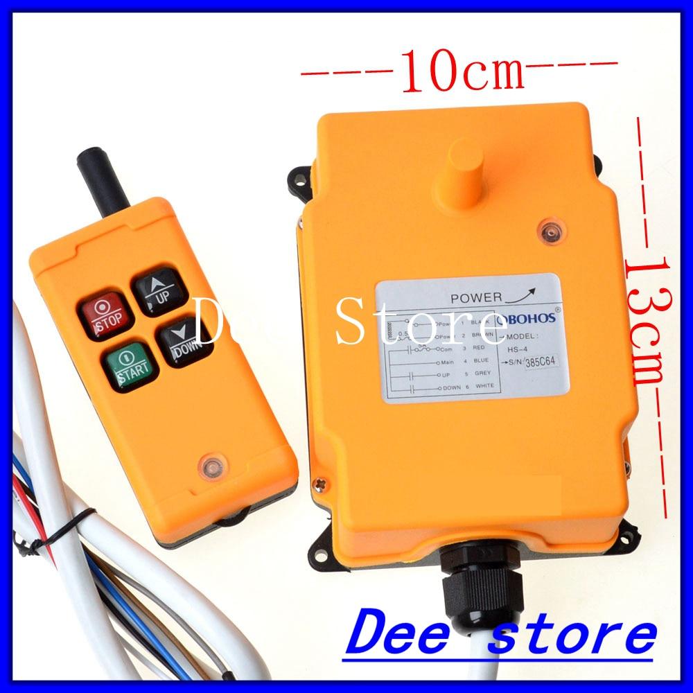 12V 220V 380V 1 Tansmitter 4 Channels 1 Speed Control Hoist Crane Radio Remote Control Push Button Switch System