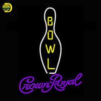 Crown Royal Bowling Neon Sign Game Room Neon Bulbs Sign Real Glass Tube Handcrafted Decorate Signs