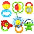 6 unids/set plástico colorido bebé mordedor sonajero 0-3 años de edad del bebé móvil toys regalo educativo brinquedo bebe