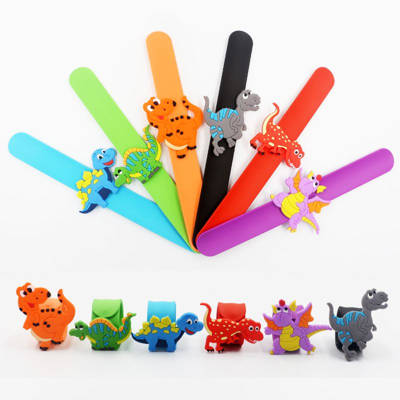 Dinosaur Party Kids Rubber Bangle Bracelet Tropical Jungle Birthday Party Decorations Kids Party Favors Baby Shower Decorations