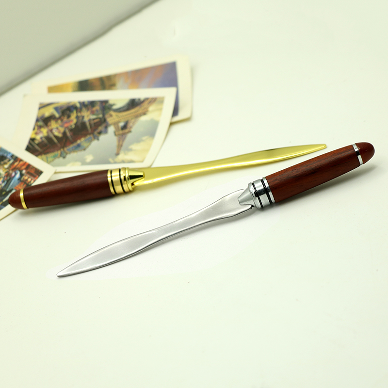 aliexpresscom buy retro wood handle letter opener stainless steel letter opening gold silver color briefopener from reliable letter openers suppliers on