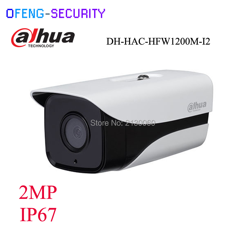 Dahua HDCVI Camera DH-HAC-HFW1200M-I2 HD 1080P 2MP built-in 2 leds IR 80m security cctv Camera without bracket, CVI Dahua camera full hd security camera hac hfw1220r vf ire6 2mp ir bullet cvi camera 1080p night version cvi camera built in sd