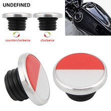купить Chrome Motorcycle Fuel Tank Gas Cap Cover For Harley Sportster XL 883 1200 Touring Road King Softail Dyna FXD 1996-2018 up онлайн