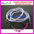 10pcs Braided PU Leather Eyeglasses Sunglasses Eyewear Spectacle Lanyard Cords Chain Free Shipping L724
