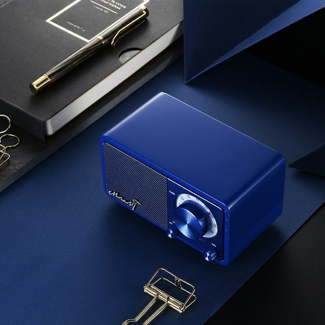 Mini Blue Bluetooth speaker with radio