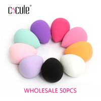 Cocute 50pcs/lot Soft Makeup Sponge Cosmetic Puff Smooth Beauty Essentials Powder Foundation Puffs Makeup Tools Accessories