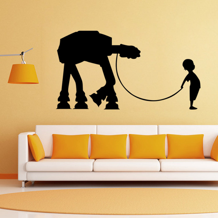 Aliexpress.com : Buy DIY Fashion Star Wars Wall Sticker Boys Bedroom  Pattern Poster Wall Home Decor Removable Waterproof From Reliable Home  Decor Suppliers ...