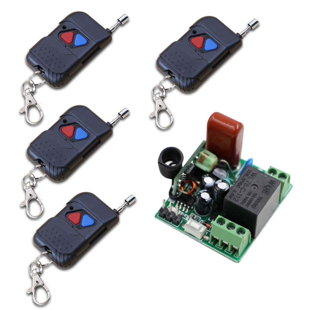 AC 220V 1 Way Relay Wireless Remote Control Light Switch 315Mhz RF Receiver Relay Smart Home Remote Controller Mini Size dc24v 8ch rf wireless remote control switch 8 receiver