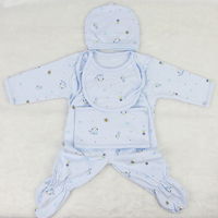 Touch Comfortable Baby Dolls Clothes 5 Pcs Sets Blue And Pink For 22 23 Inch Reborn