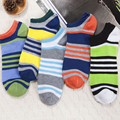3Pair Happy Funny Colorful Socks Stripes Men 3D Printed Socks Compression Chausettes Homme No Show Socks Cotton Blend Short Sock