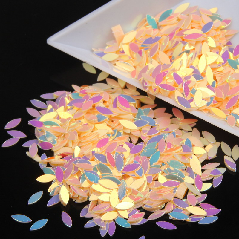 10g/bag Amazing Beauty Nail Glitter Dust Sequins Orange Marquise Nail Art Decorations 3D DIY Manicure Glitter Powder Slice WY2 born pretty mirror nail glitter pigment powder 1g gold blue purple dust manicure nail art glitter chrome powder decorations