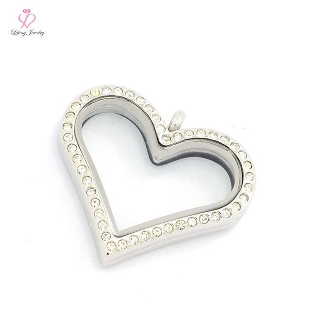 Hot sale 6 color 35mm love crystal 316l stainless steel magnetic hot sale 6 color 35mm love crystal 316l stainless steel magnetic floating heart locket pendant aloadofball Choice Image