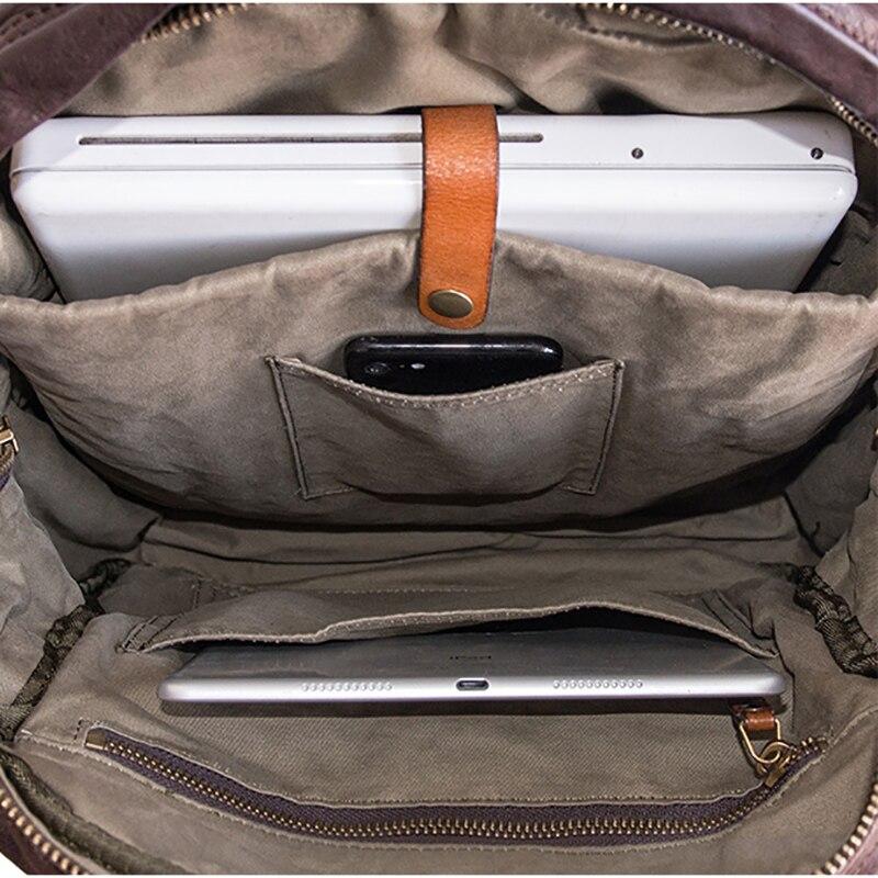 AETOO vintage hohe qualität ringkastration top leder rindsleder mode färbung schulter tasche echt rucksack-in Rucksäcke aus Gepäck & Taschen bei  Gruppe 3