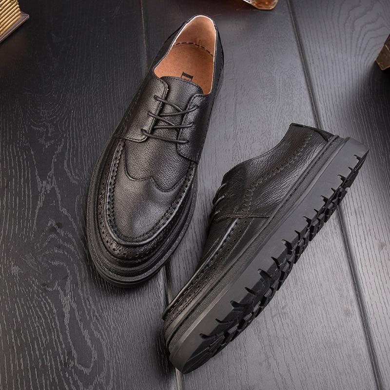 Bullock men shoes British business leather mens casual shoes retro shoesBullock men shoes British business leather mens casual shoes retro shoes