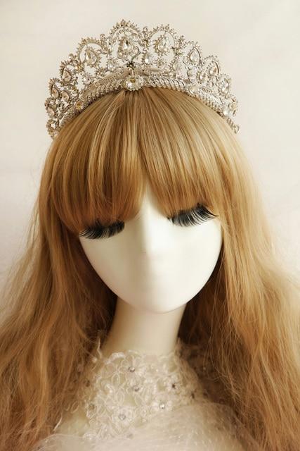 Classical Princess Queen Bling Beautiful Beaded Pearl Rhinestone wedding hair accessories