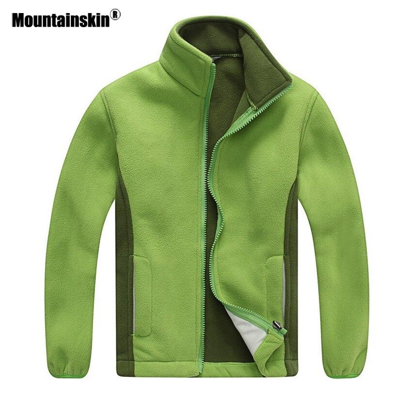 Mountainskin Girls Boys Fleece Softshell Jacket Spring Outdoor Warm Windbreaker Camping Fishing Trekking Kid Children Coat VC019
