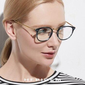 7a5e0cfc61 Gafas de titanio puro marco para hombres 2019 Vintage redondo ultraligero  gafas prescripción miopía marco óptico mujeres acetato gafas