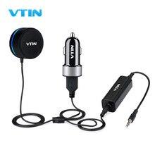 VTINบลูทูธ4.0แฮนด์ฟรีชุดอุปกรณ์ติดรถยนต์แบบไร้สายสเตอริโอเพลงรับกับ3.5มิลลิเมตรAuxแจ็คและเสียงisolatorคู่พอร์ตUSB