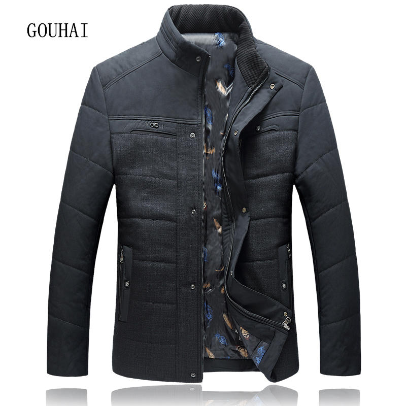 5XL-8XL Men Parkas Stand Collar Casual Mens Winter Jacket Patchwork 2017 Fashion Man Coat Plus Size Overcoats Male Top Quality 2016 new men thick warm parkas outerwear fashion stand collar zipper casual down jacket male plaid patchwork winter coat a4583