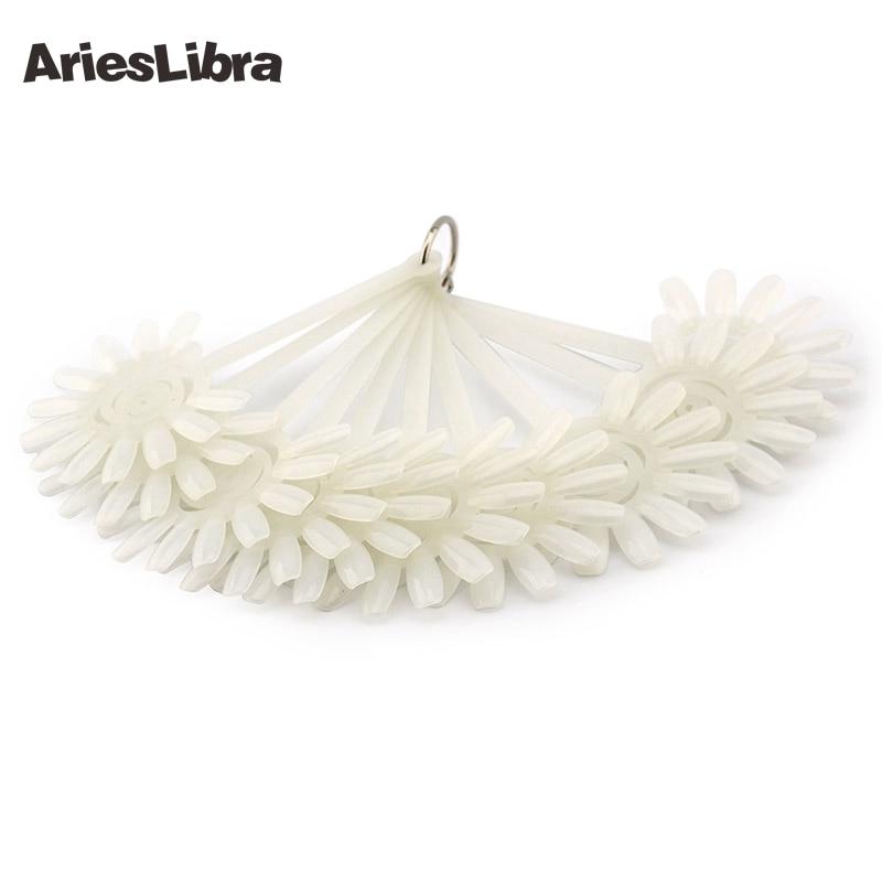 AriesLibra 10pc/set Natural Sunflower Plastic Flase Nail Art Display Color Chart False Nail Display Nail Makeup Accessories ...
