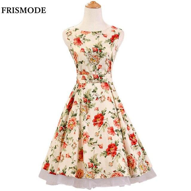 Sleeveless Floral Dresses