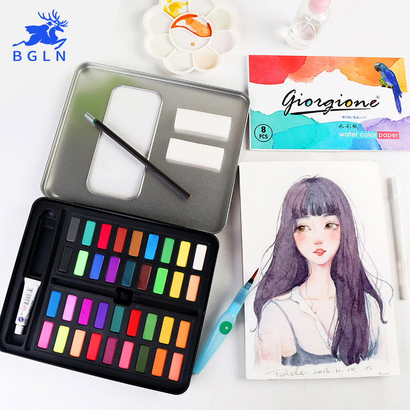 36Colors Powder Solid Watercolor Painting Set Bright Color Portable Watercolor Pigment Powder For Kids Students Art Suppl 1