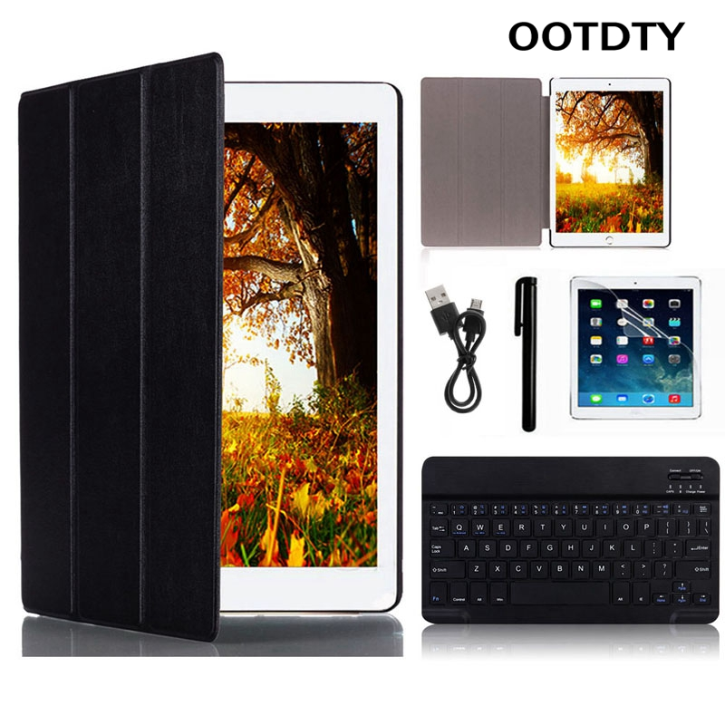 OOTDTY Endurance life PU Keyboard Leather Case For apple for ipad pro 9.7 Wireless Bluetooth Keyboard Cover Protective Shell