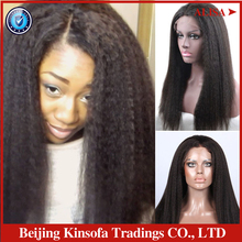 Free Shipping Brazilian Virgin Unprocessed Hair Glueless Full Lace & Lace Front Wigs Kinky Straight Wigs 130% Density