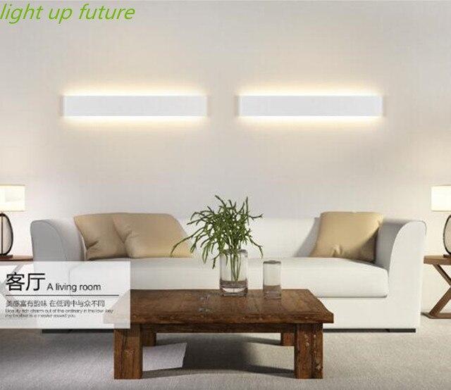long aluminum Sconce led wall lamp black/white  bedroom living room bathroom led mirror light 6W/24cm IP65  Light AC90-260V 1753