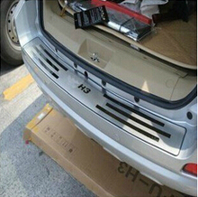 for for 2009-2012 Great Wall Haval/Hover H3 stainless steel Rear bumper Protector Sill