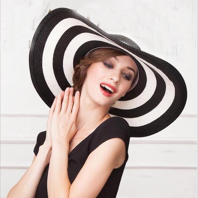 Striped Summer Sun Hats for Women