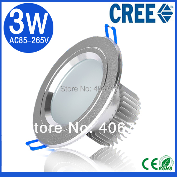 High Power 3W Recessed LED Downlight Cold Warm White led lamps for bathroom kitchen living room spot led
