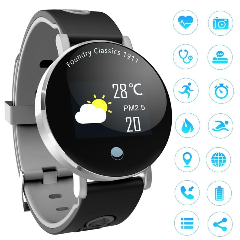 Unisexe De Luxe Montre Smart Watch Femmes Reloj Intelligent Montre De Sport Hommes Ronde Affichage Pression Artérielle de Fréquence Cardiaque Numérique Montre-Bracelet Relogio