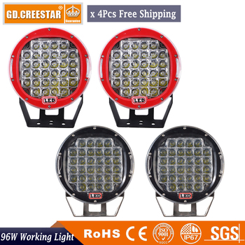 96Watts 9inch LED Work Light with cover Tractor Truck 12v 24v SPOT Offroad 9''LED Drive light LED Worklight External Light x4pcs