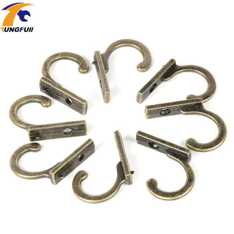 22 21 8mm 50pcs Small Antique Decorative Single Hook For