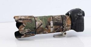 Image 4 - ROLANPRO Objektiv Camouflage Mantel Regen Abdeckung für Canon EF 70 200mm F 2,8 L IST II USM Objektiv schutz Hülse Guns Fall Outdoor Tasche