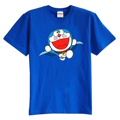 Niños camiseta del verano de manga corta 100% algodón de la muchacha del muchacho embroma la camiseta doramon lindos niños ropa de verano
