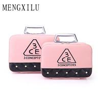 MENGXILU Brand 2Pcs Set Cosmetic Bag For Women Portable Make Up Bag Case Hanging Toiletries Travel