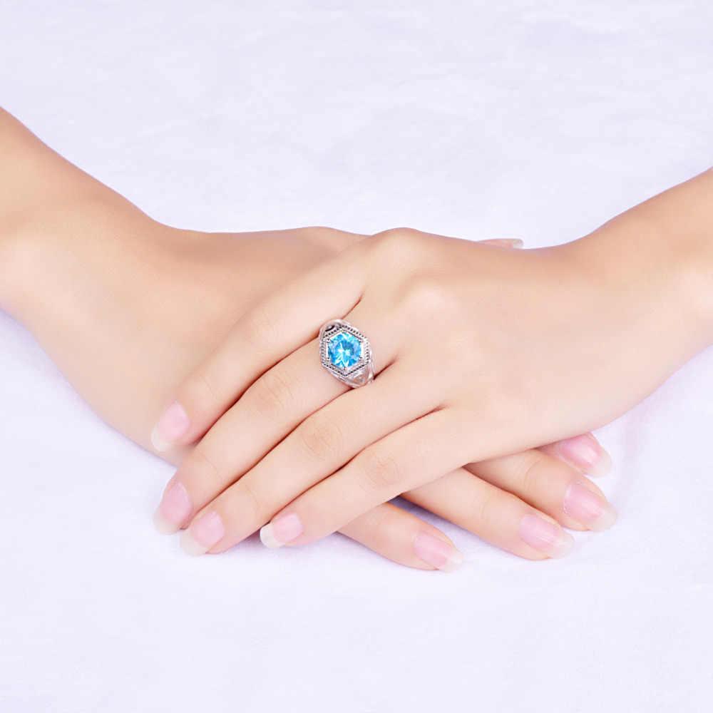 JC Hochzeit Band Solitaire Edlen Schmuck Blue Topaz Peridot Solide 925 Sterling silber Ring Größe 6 7 8 9 Für Frauen Männer Party Geschenke