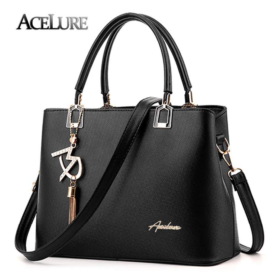 ACELURE 2017 New Designer Female Bags Fashion Tassel PU Leather Handbags High Quatity Ladies Shoulder Messenger Bags Casual Tote nnew fashion women shoulder bags casual tote messenger bags famous designer pu leather high quality ladies handbags tfd171