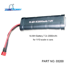HSP RACING RC CAR SPARE PARTS ACCESSORIES 03200 NI-MH BATTERY 7.2V 2000MAH FOR 1/10 SCALE RC CARS
