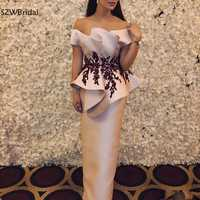 New Arrival Formal Evening Dress 2019 Vestidos De Festa Elegant Evening Gowns Appliques Beaded evening dresses Robe de soiree