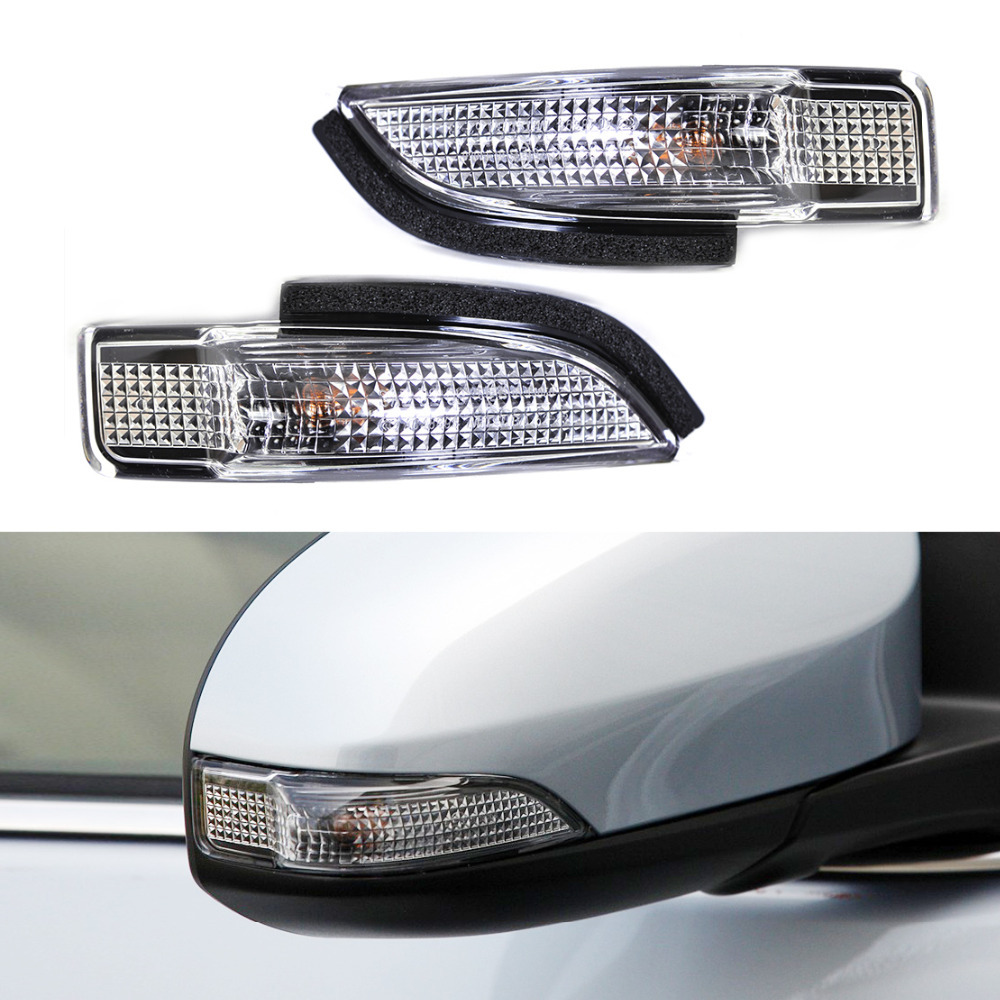 beler 2Pcs 2Pin Side Mirror Indicator Turn Signal Light Lamp fit for Toyota Camry Avalon Corolla Prius C RAV4 81730-02140 special car trunk mats for toyota all models corolla camry rav4 auris prius yalis avensis 2014 accessories car styling auto