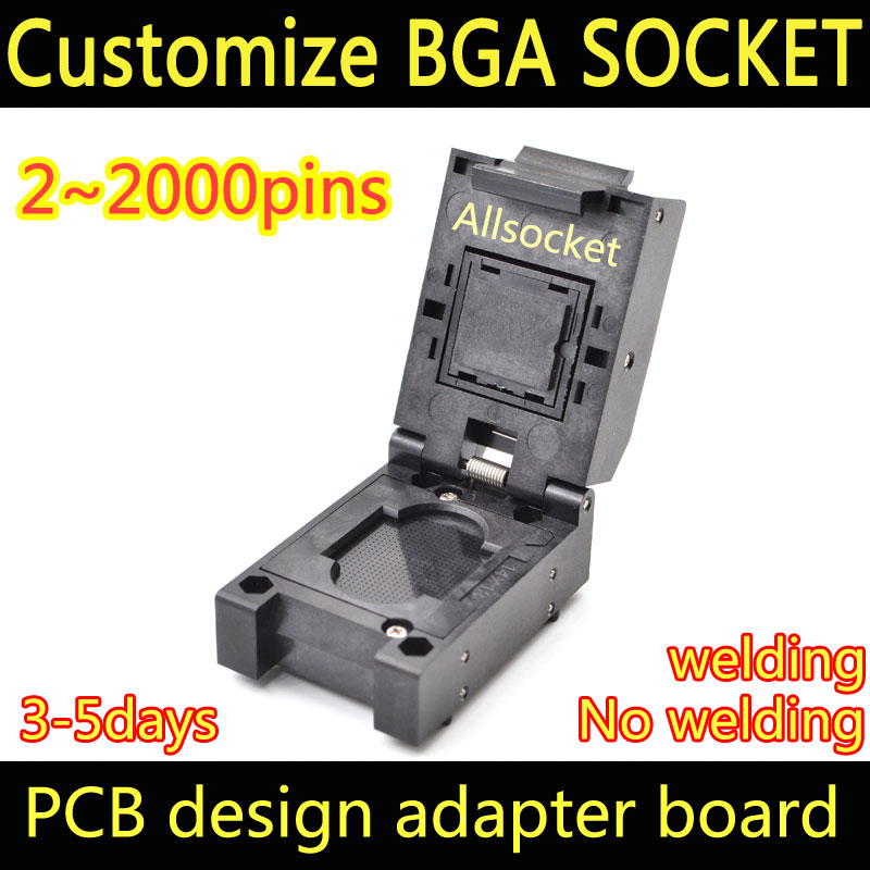 BGA498 Custom socket adapter test jig BGA LGA498 LBGA498 CSP498 QFN498 SOCKET CPU LPDDR North Bridge South