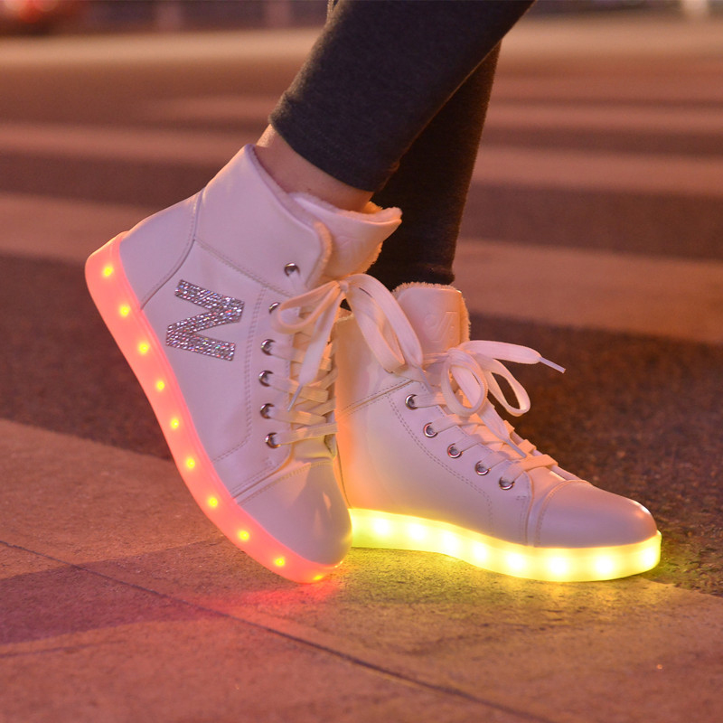 Discreet Sytat Luminous Led Shoes 2017 Emitting Casual Shoes Men Lovers Led Lighted Chaussure Unisex Usb Charging Glowing Led Shoes Shoes