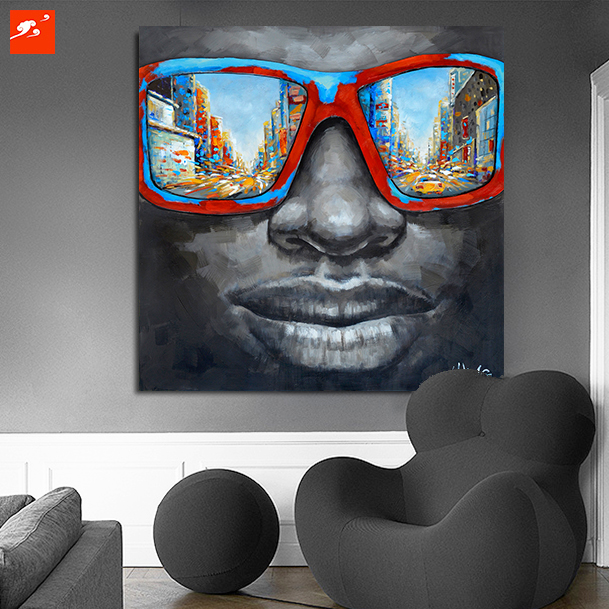 Brand-new New Cool Style Street Wall Art Abstract Modern Black African Men  RK59