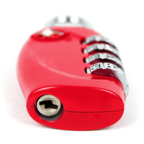 Promotion! Red 4-Dial <font><b>TSA</b></font> <font><b>Combination</b></font> Padlock Resettable <font><b>Lock</b></font>--- for Travel Luggage Suitcases image