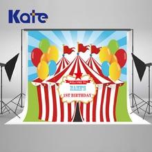Kate 7x5ft Birthday Newborn Photography Backdrop Circus House Flag Balloons Background Photography Children Princess  Backdrop kate shabby suitcase newborn photography props national flag baby shower backdrop cotton washable photo backdrop