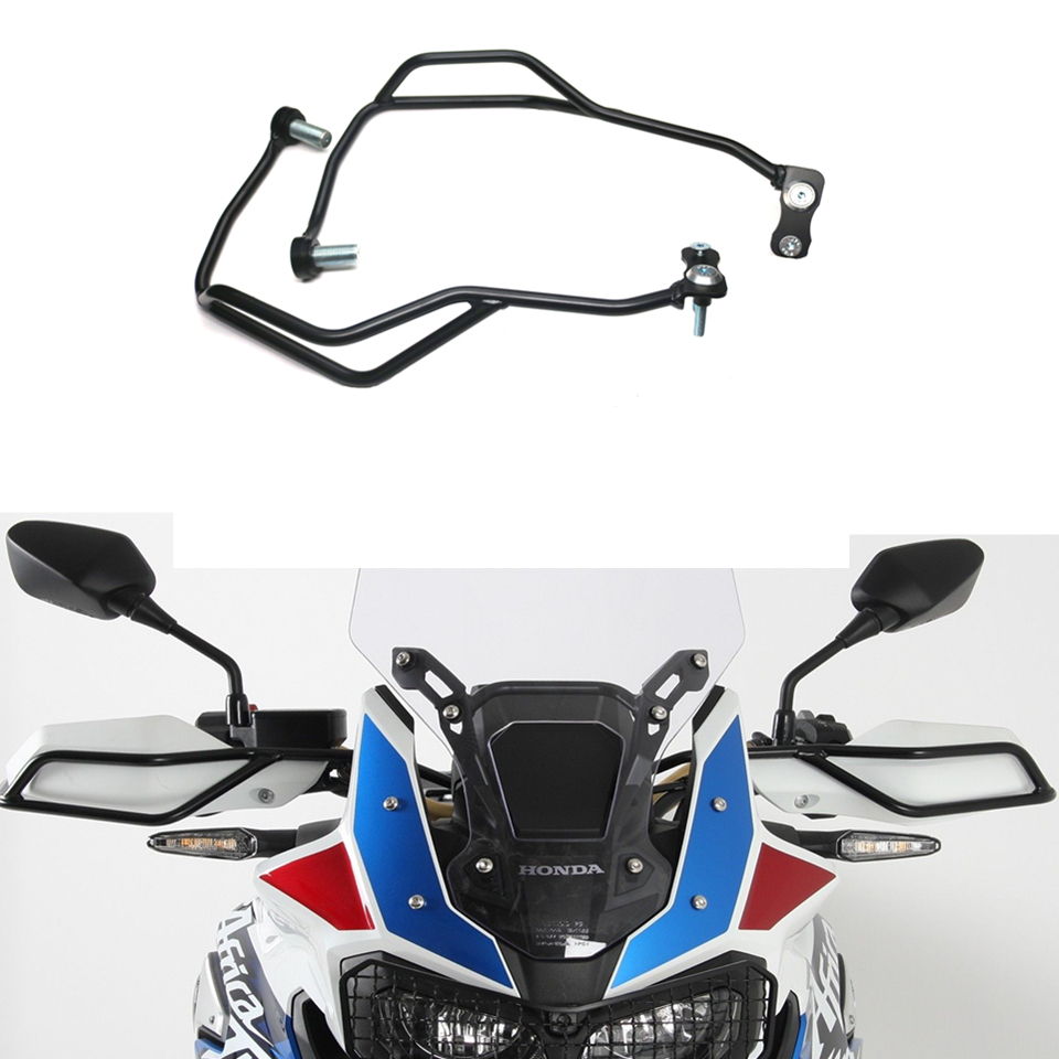 MTKRACING Steel Left Right Motorcycle Font Handle Bar Hand Guard Bumper Frame Protector for Honda CRF1000L  Africa Twin 2018+MTKRACING Steel Left Right Motorcycle Font Handle Bar Hand Guard Bumper Frame Protector for Honda CRF1000L  Africa Twin 2018+