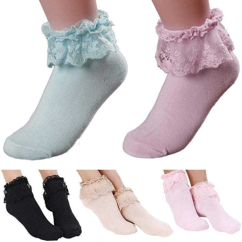 60% Rabatt schön und charmant ziemlich billig US $0.86 33% OFF|Heißer Prinzessin Mädchen Nette Süße Frauen Damen Vintage  Spitze Rüschen Rüschen Socken-in Socken aus Unterwäsche und Nachtwäsche bei  ...